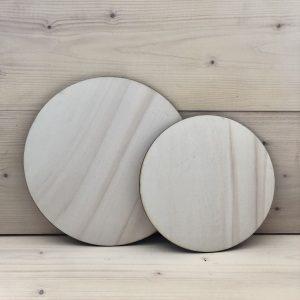 muurcirkels hout blank